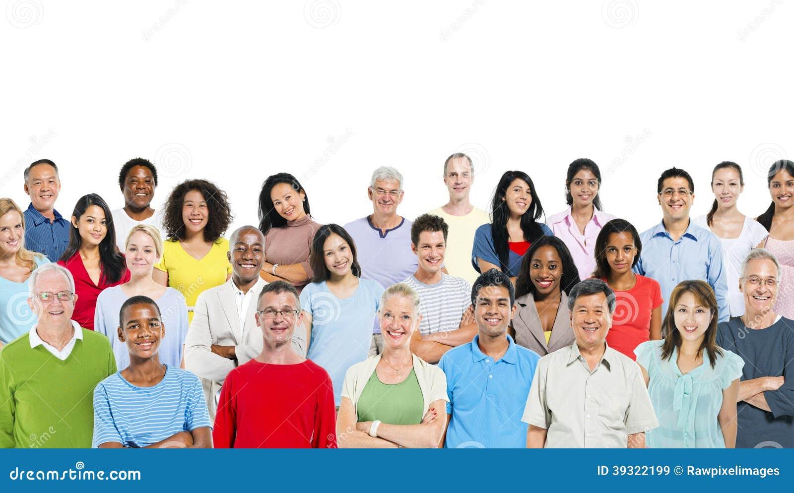 Blandad grupp människor