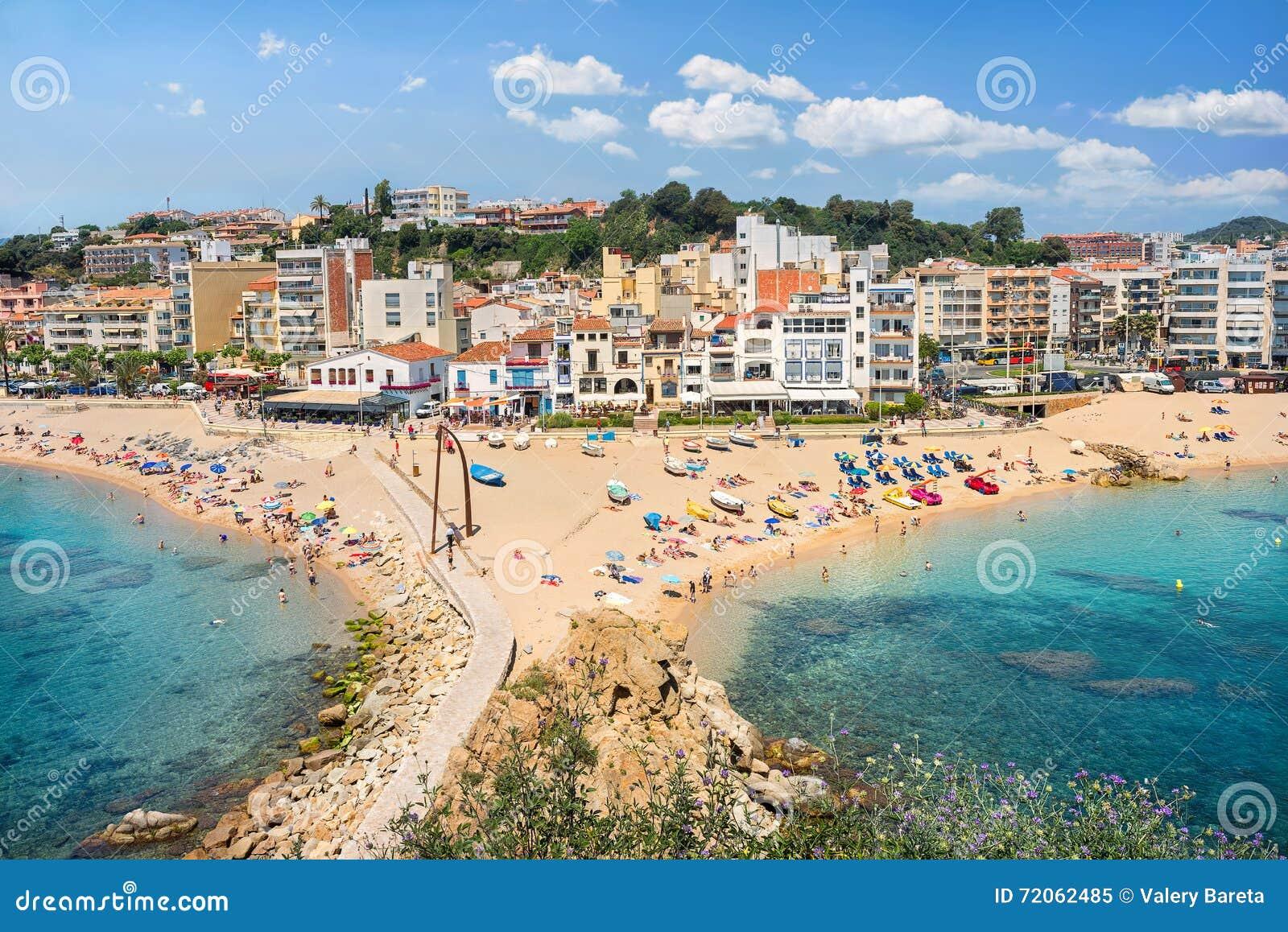 Blanes strand costa brava cataloni spanje stock for Oficina de treball blanes