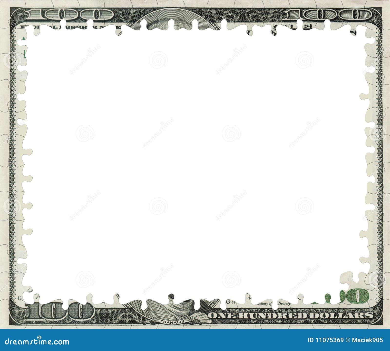 Blank 100 Dollar Bill Blank 100 dollars bank note