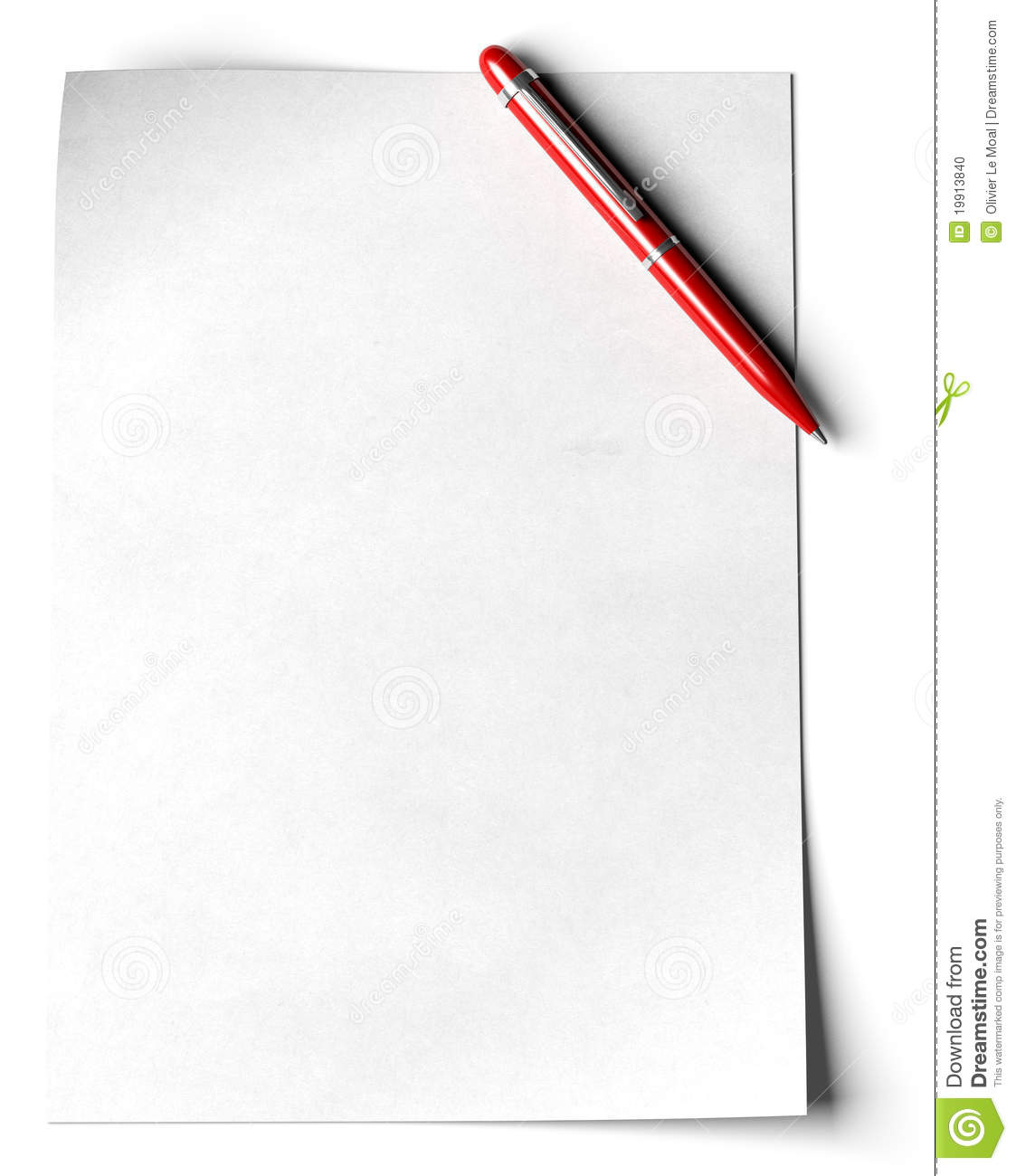 Page: Blank A4 Page Stock Illustration. Illustration Of Document