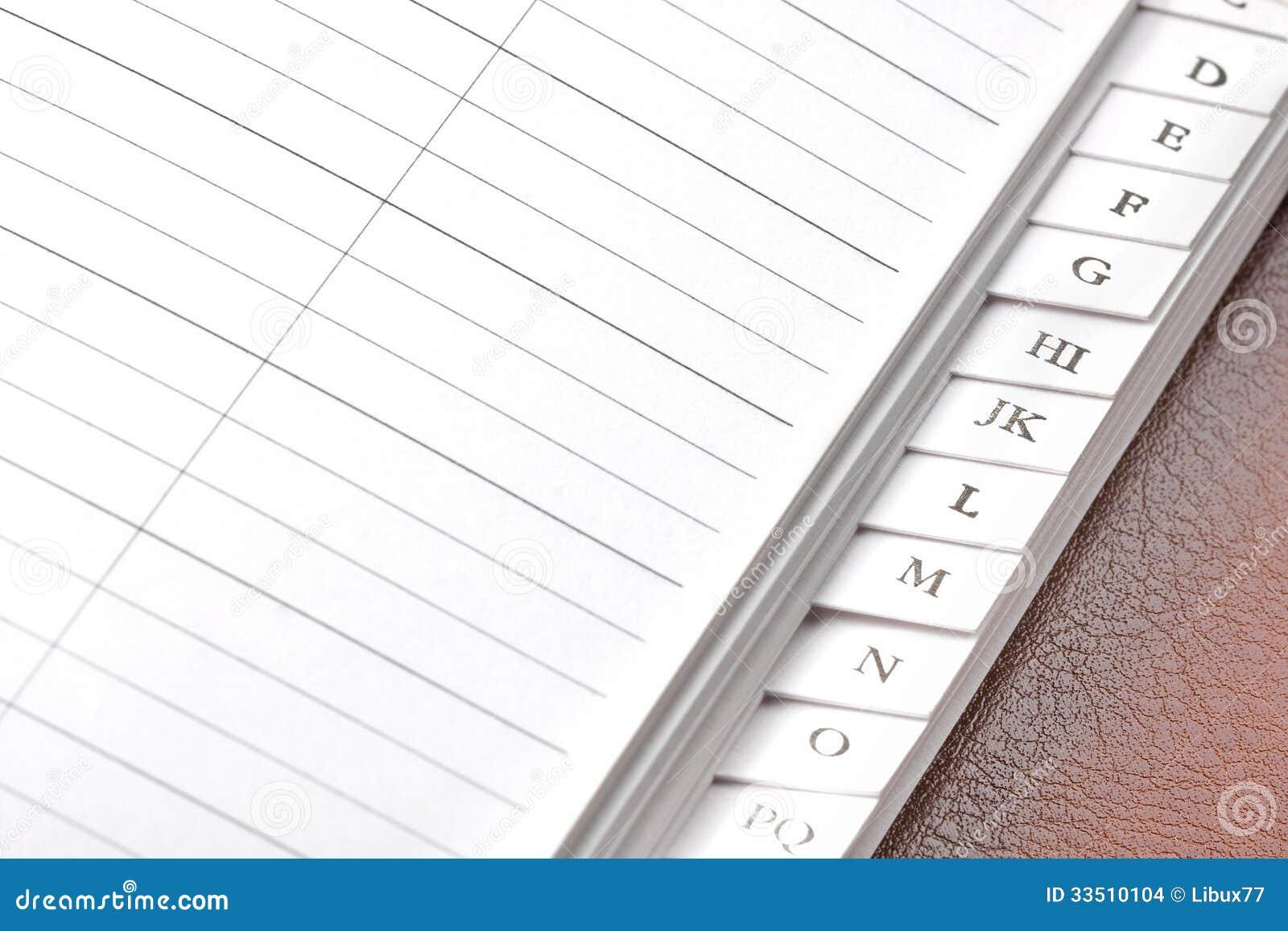 Blank Address Book stock photo. Image of blank