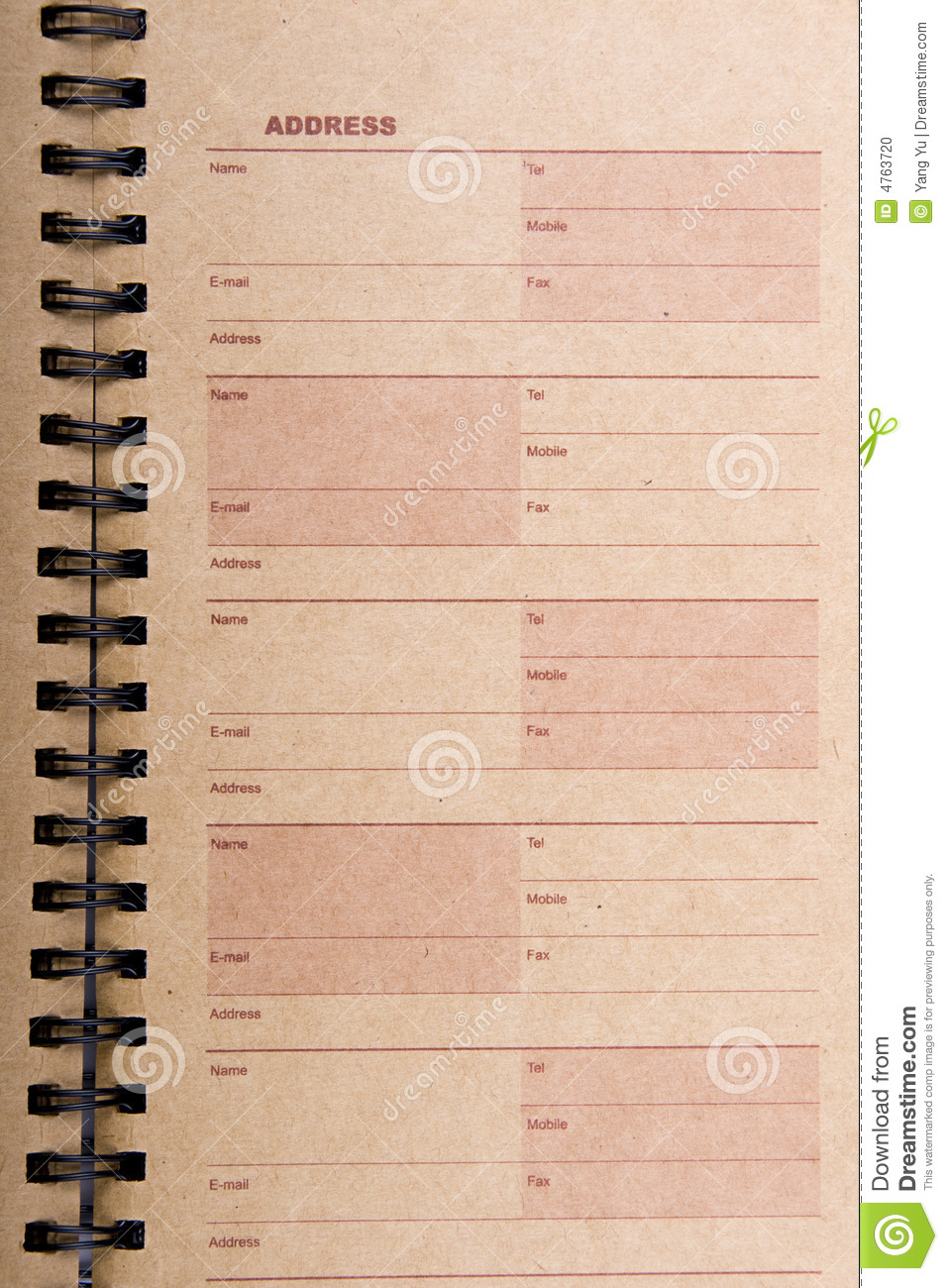 blank address book page stock photo image of directory 4763720