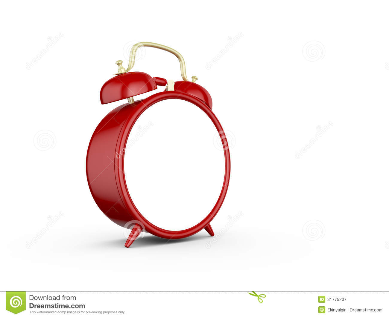 blank alarm clock royalty free stock photography
