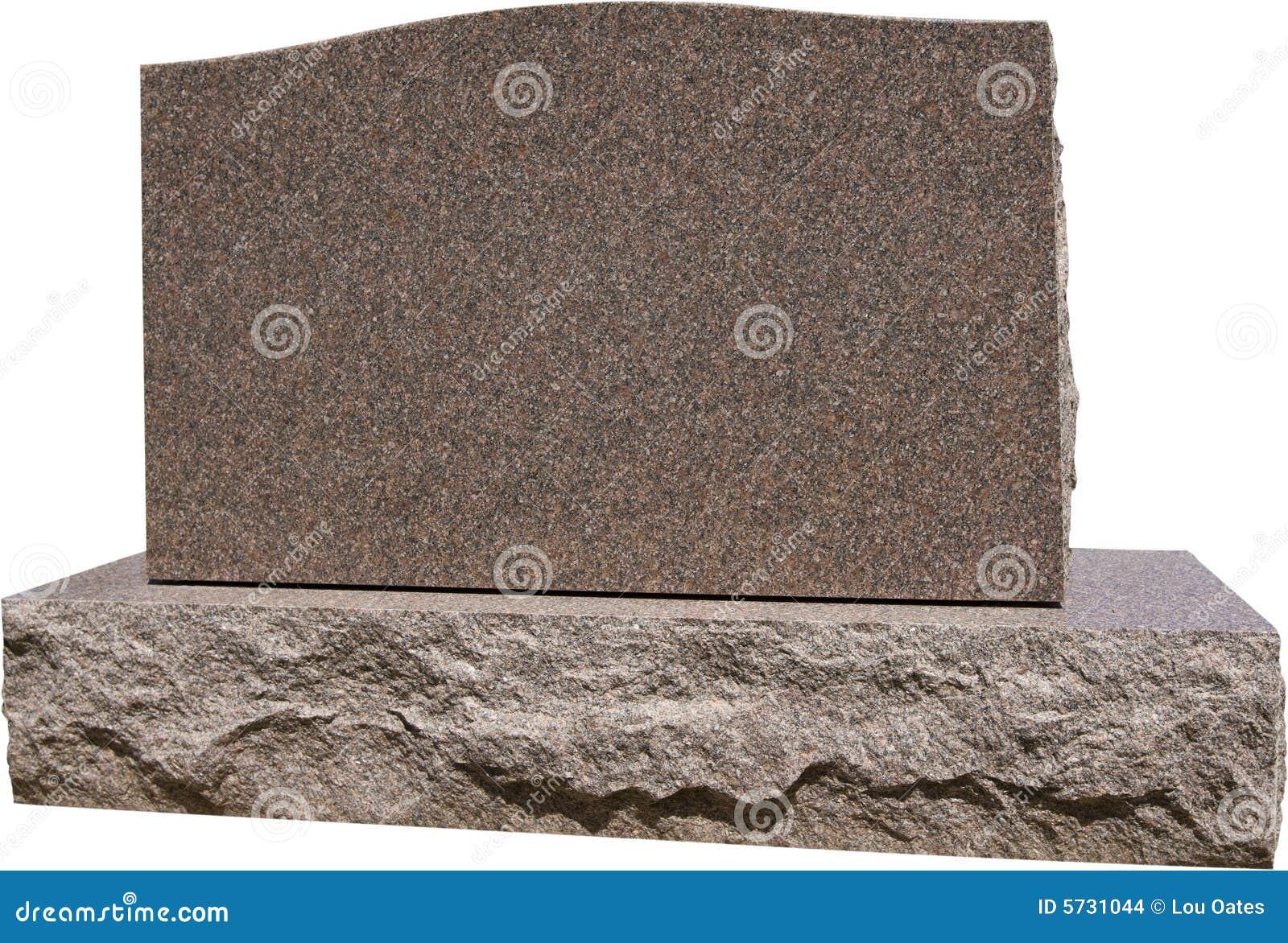 Blank allvarlig gravsten