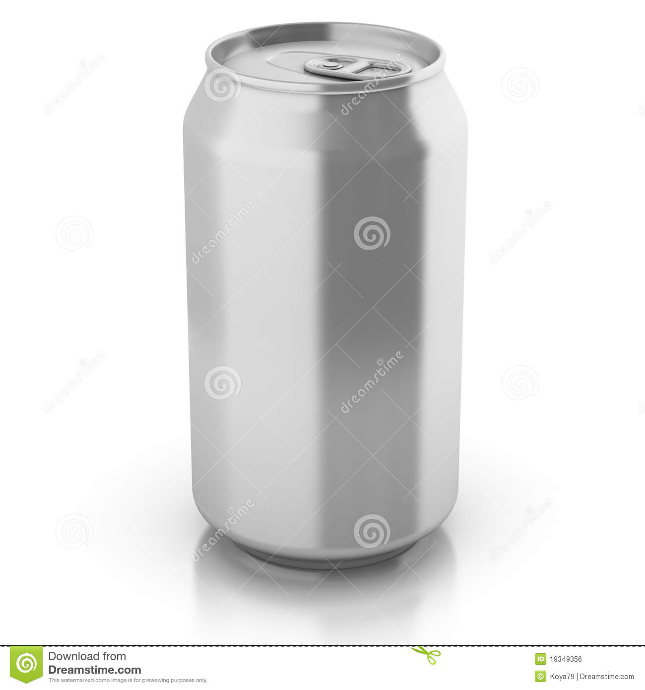 Blank aluminium can isolated on a white