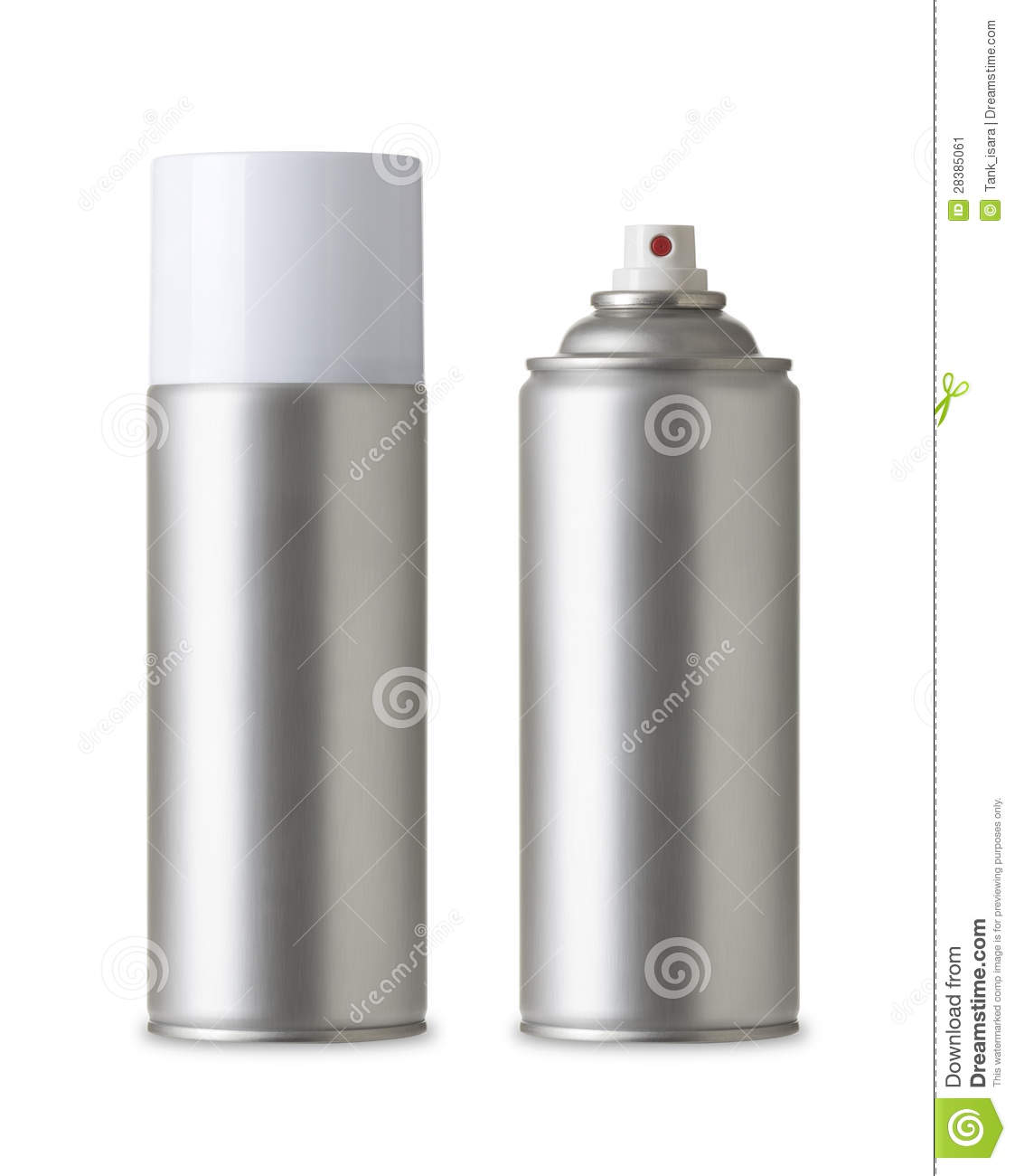 Blank Aluminum Spray Paint Can Realistic Photo Image