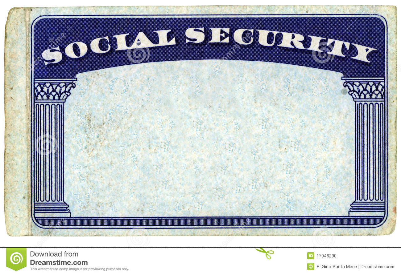 blank american social security card stock photo image of