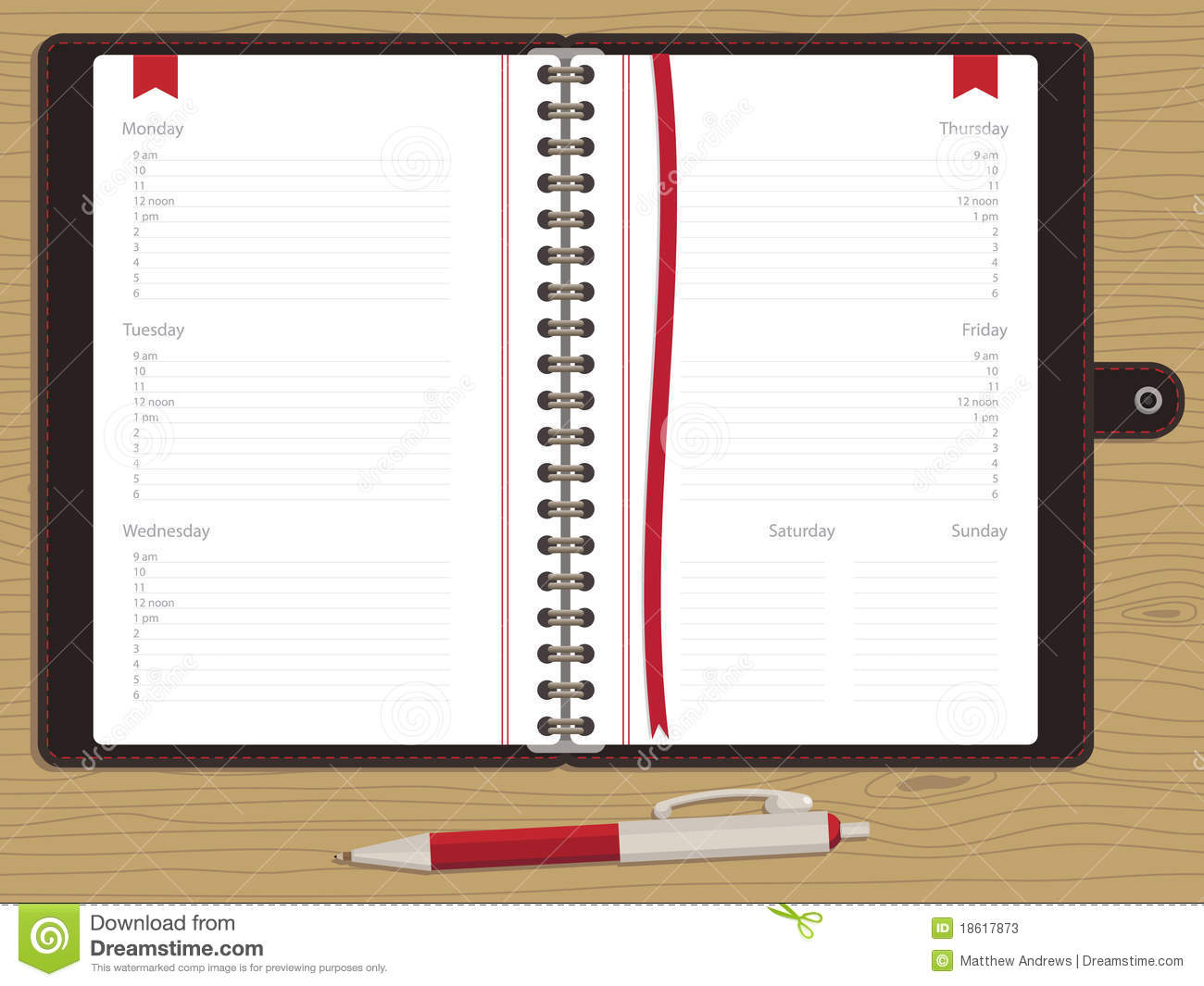 blank appointment book stock vector image of work  grain lined note paper clipart lined notebook paper clipart free