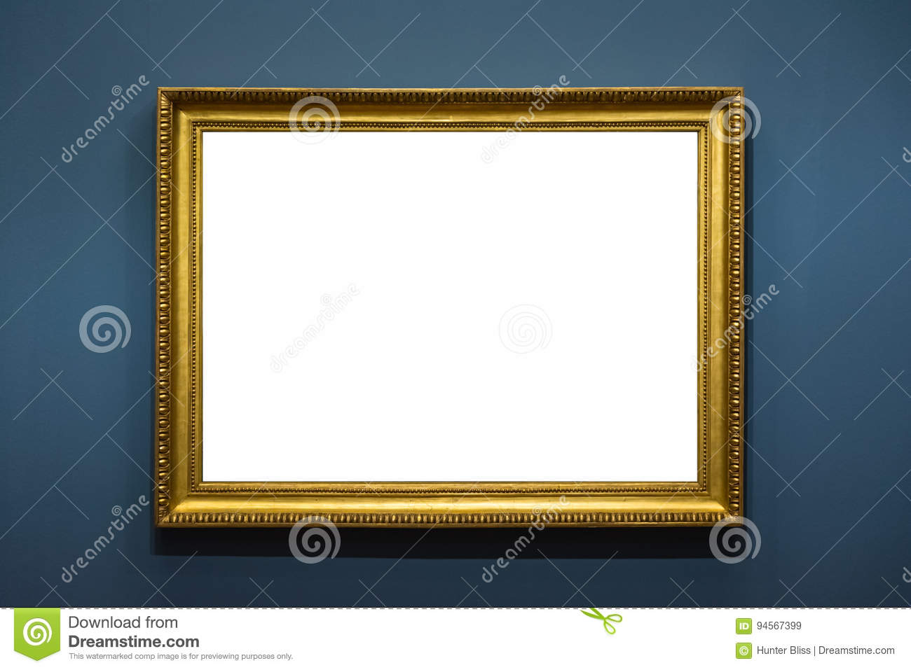 Blank Art Museum Isolated Painting Frame Decoration Indoors Wall