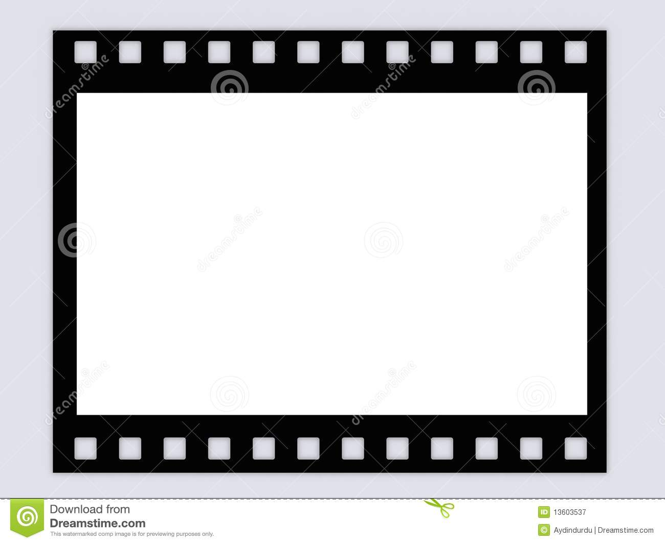 Blank B&W film strip frame stock illustration. Illustration of blank ...
