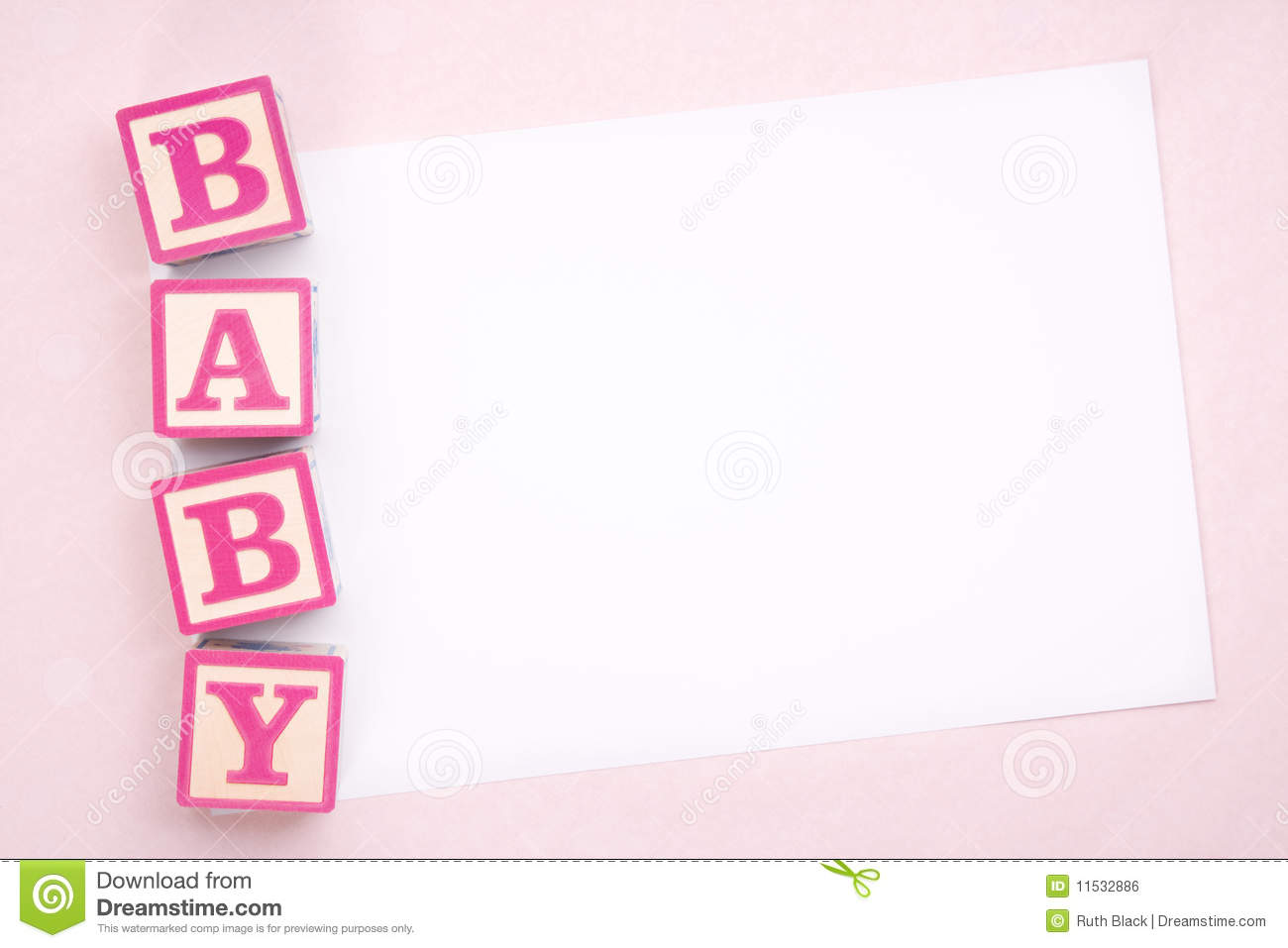 Blank Baby Announcement Royalty Free Stock Image Image 11532886