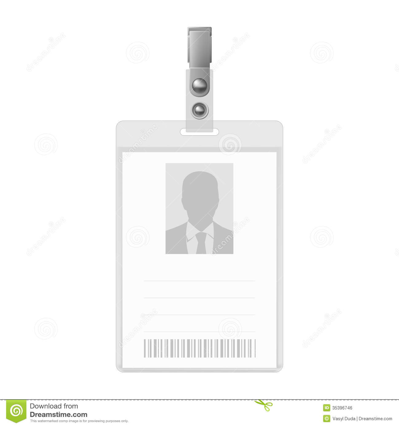 Blank badge stock vector illustration of admission for Id badge template free