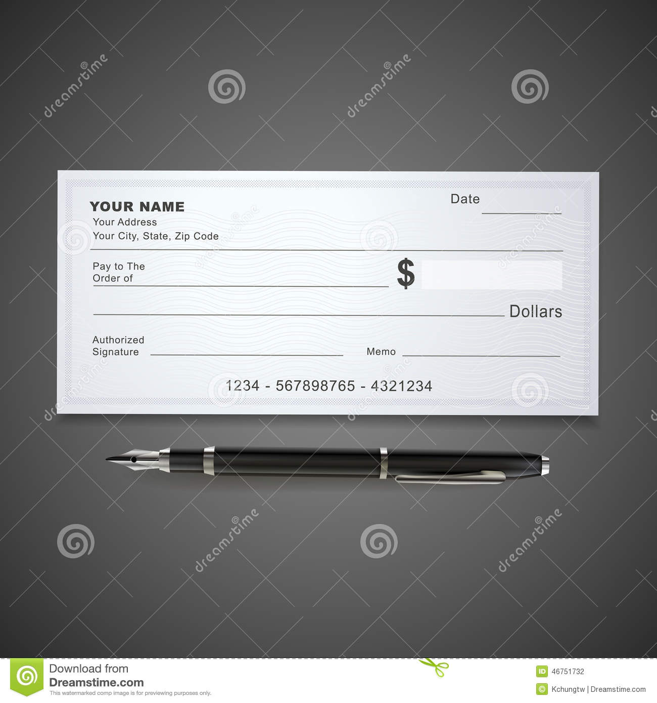 Blank Check - Financial Freedom From Wealth Stock Image ...
