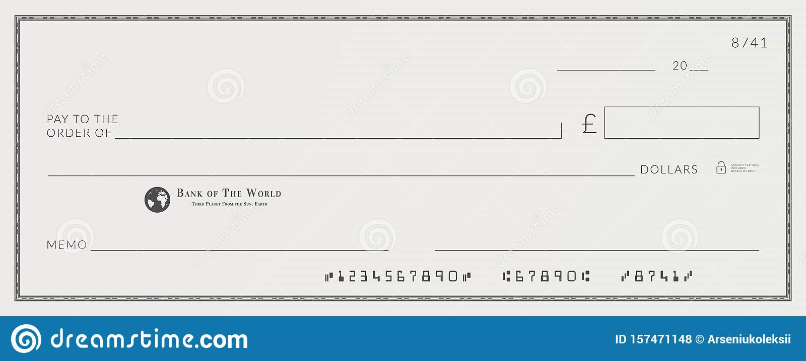Free Bank Check Template from thumbs.dreamstime.com