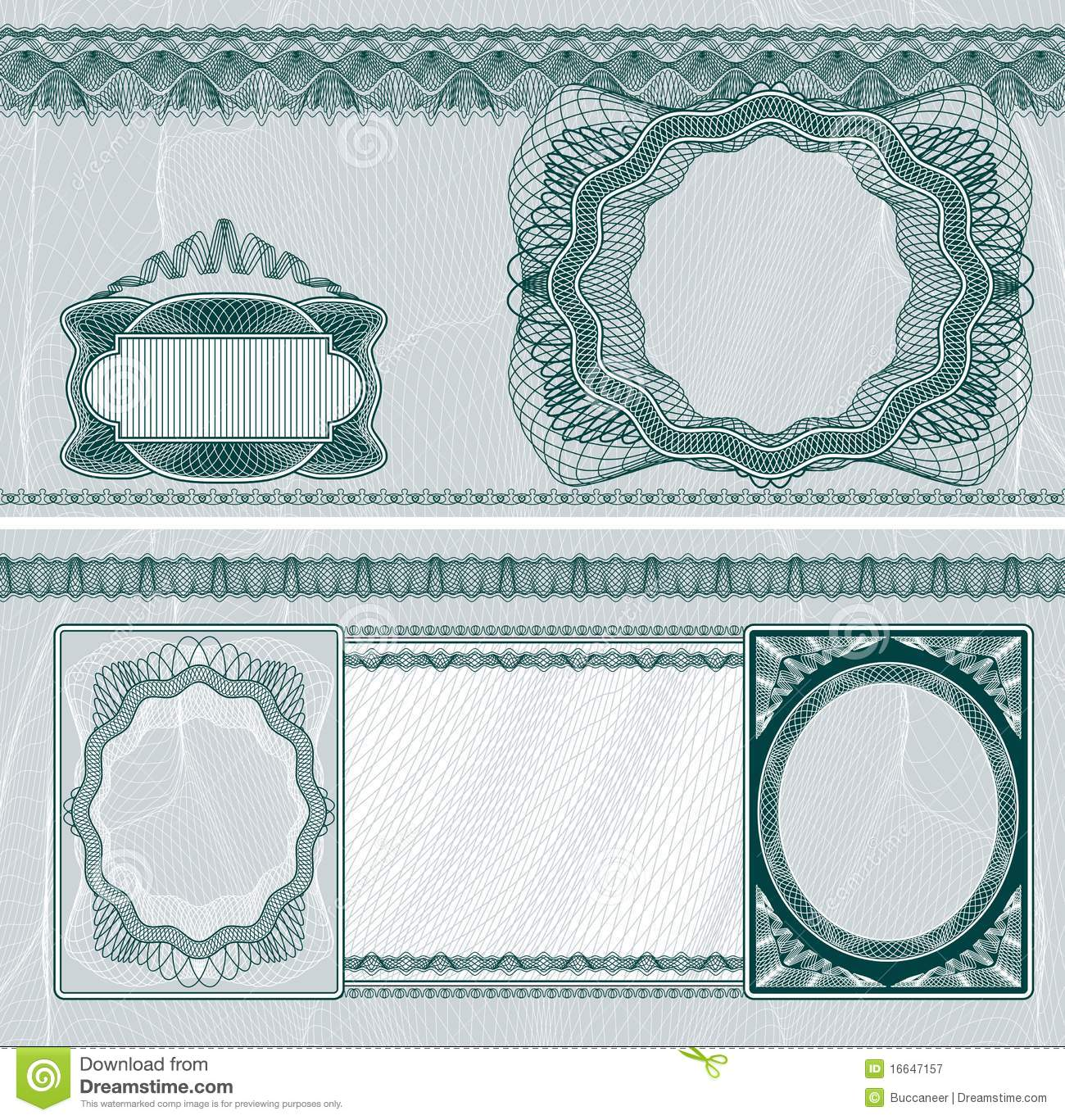 blank banknote layout stock vector  illustration of