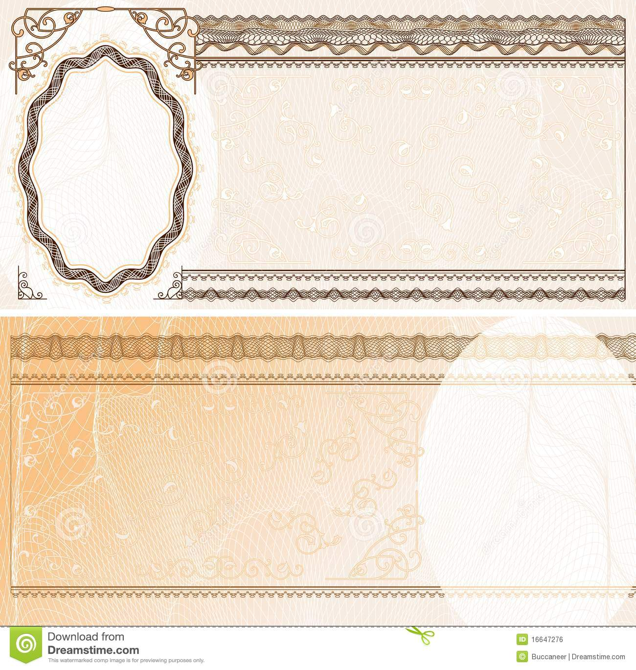 Blank banknote layout stock vector image of guilloche 16647276 blank banknote layout pronofoot35fo Choice Image