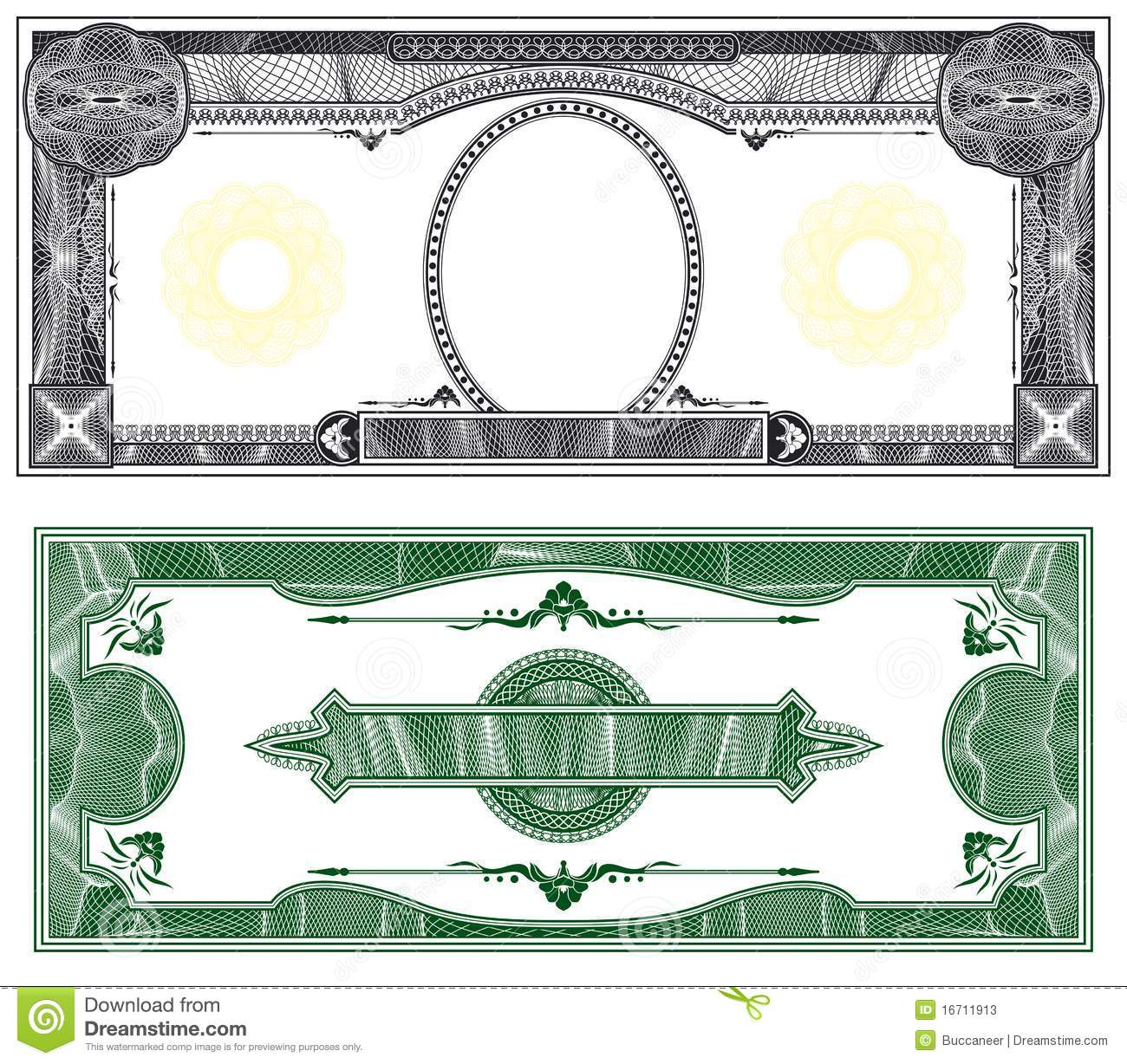 money border template