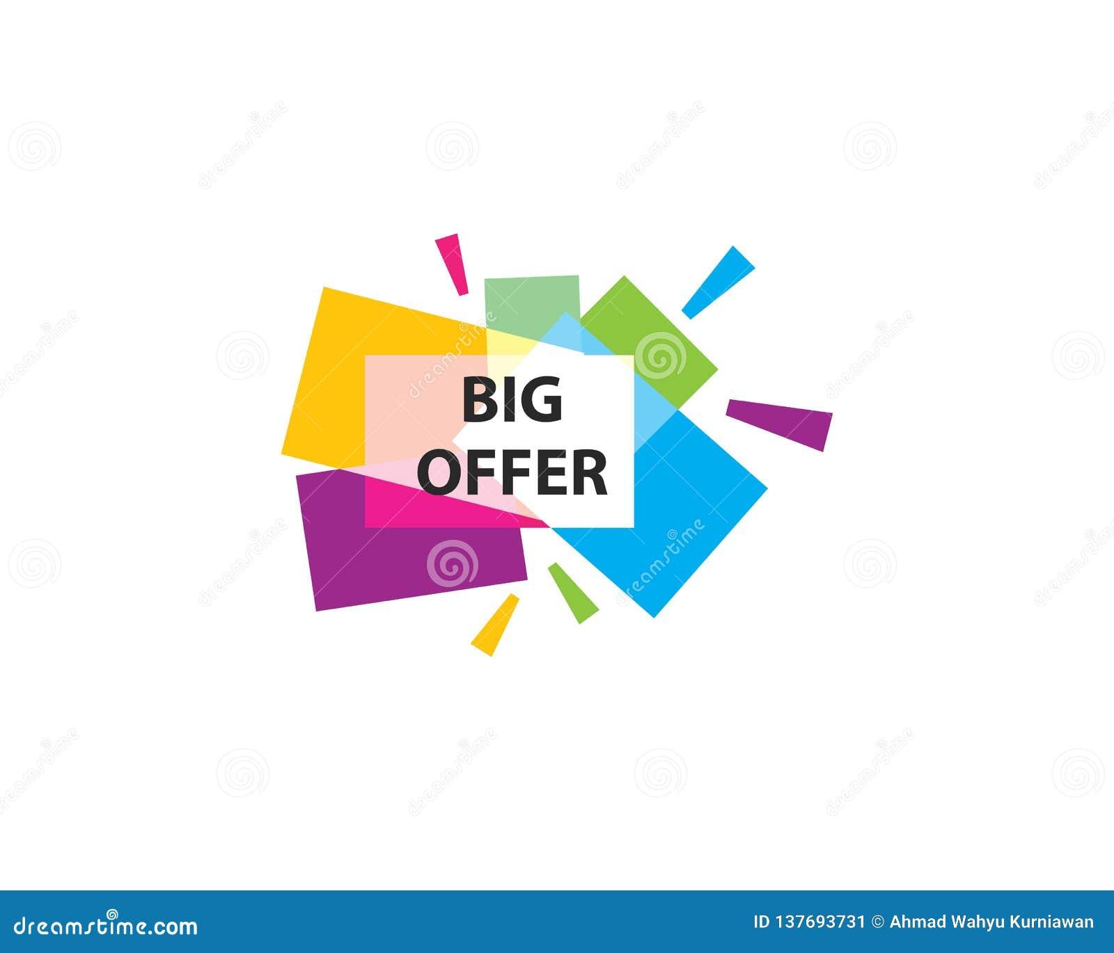 Blank Banner Discount Label Vector Stock Vector - Illustration of