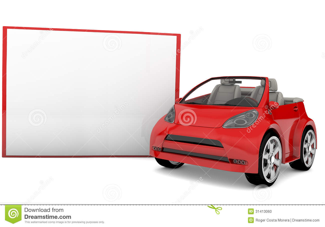 Blank Banner And Red Car Stock Photo  Image 31413060. String Art Murals. 21 Week Signs. Logo Design Packages. Manish Logo. Bad Day Signs. Fasciculations Signs. Cali Lettering. Oversized Signs Of Stroke