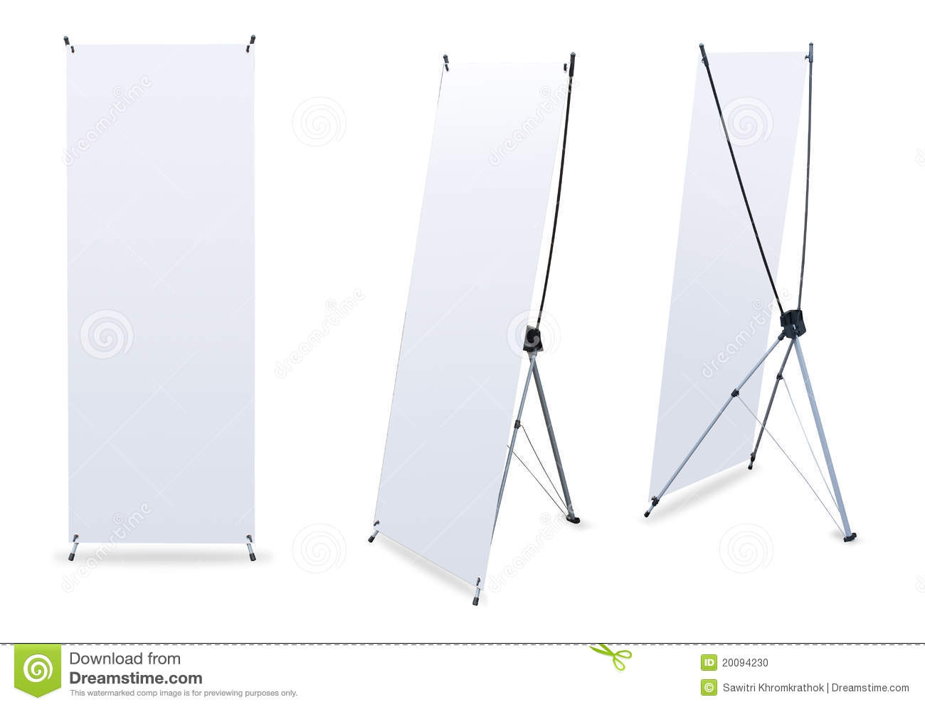 Exhibition Stand Vector : Blank banner stands stock photo image