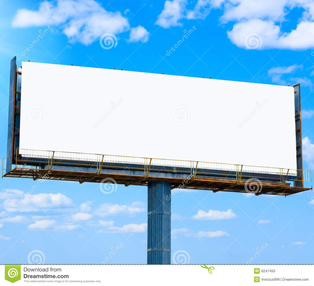 Blank Banner For Your Ad Royalty Free Stock Photo - Image: 6247455