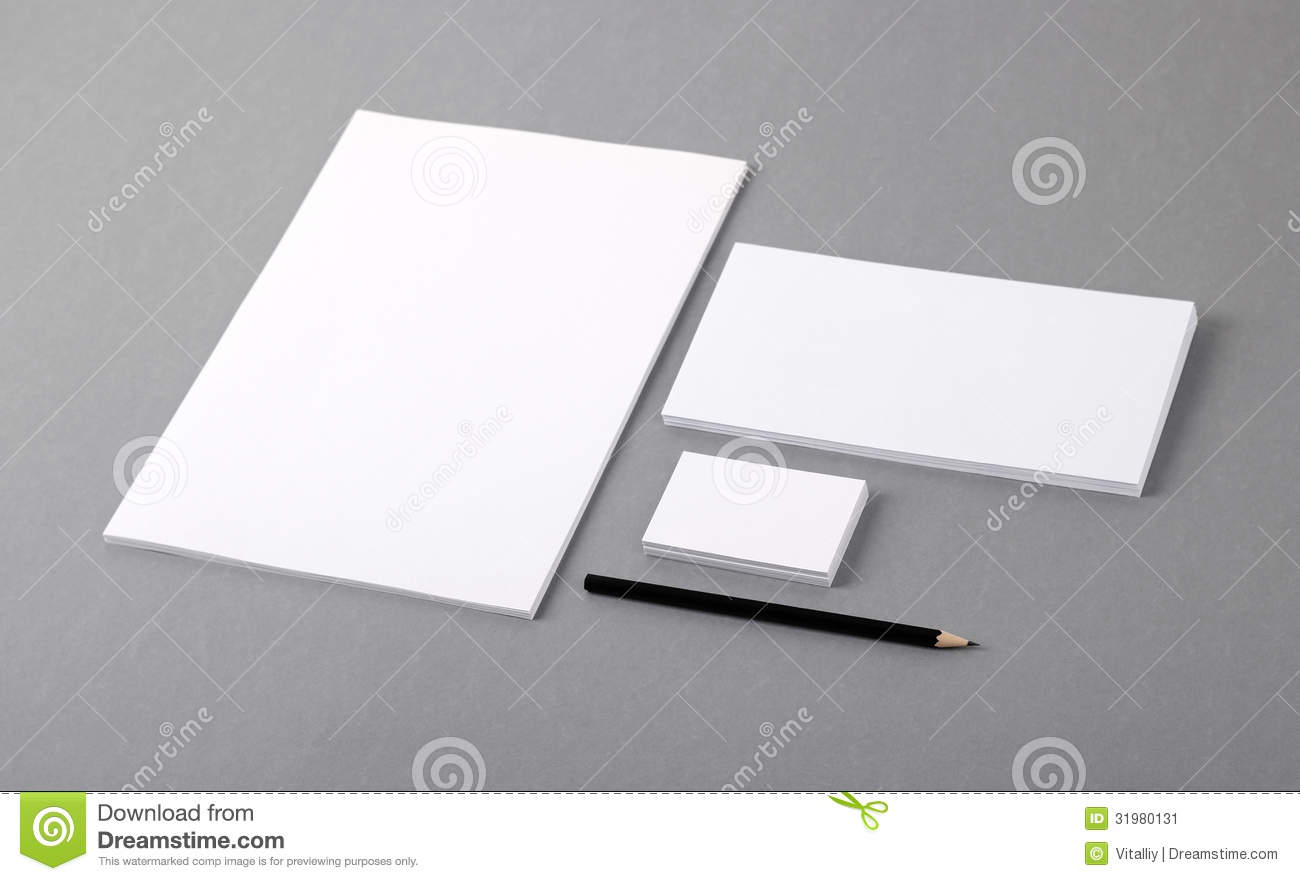 blank basic stationery letterhead flat business card envelope stock image image 31980131. Black Bedroom Furniture Sets. Home Design Ideas