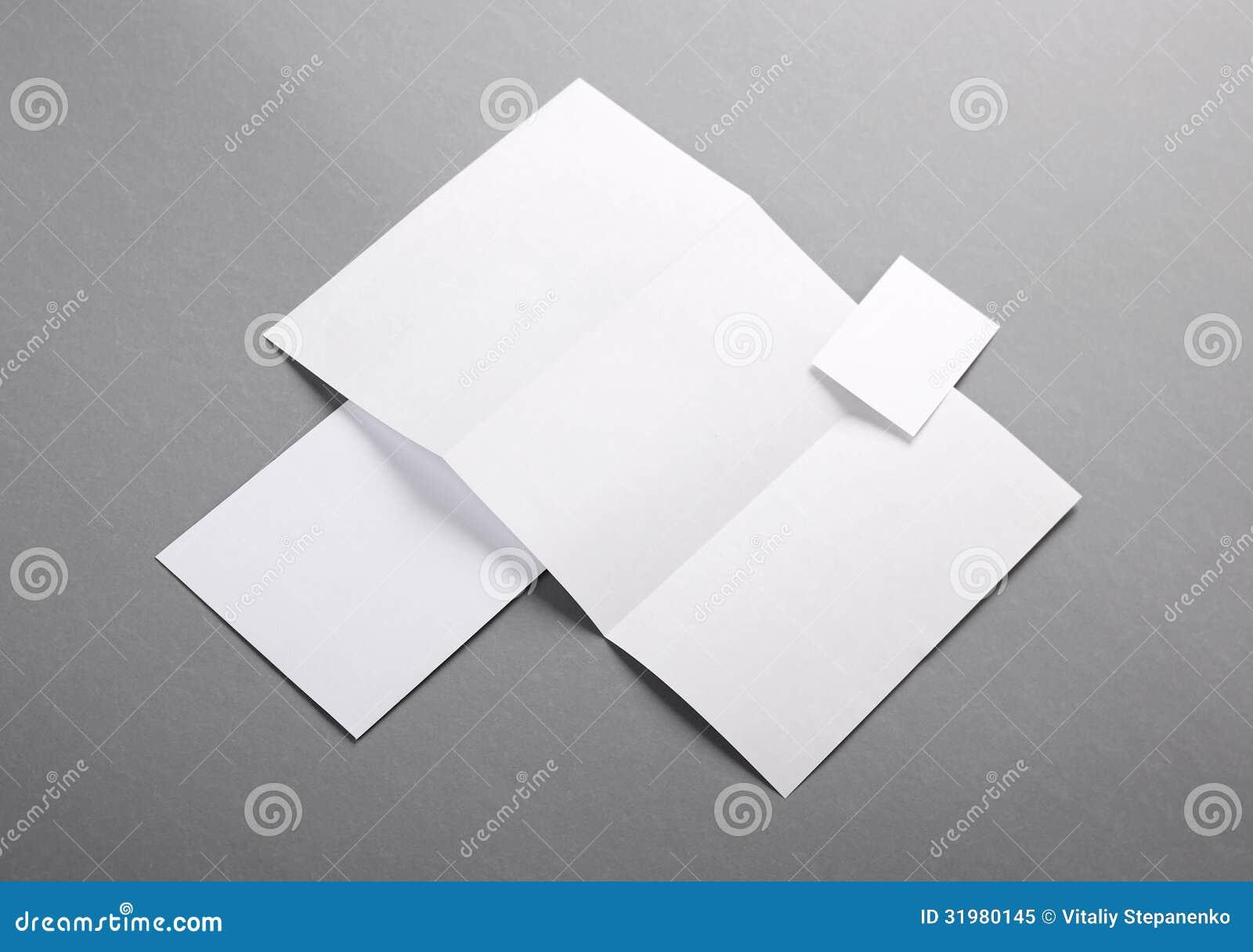 Letterhead Folded Business Card Envelo