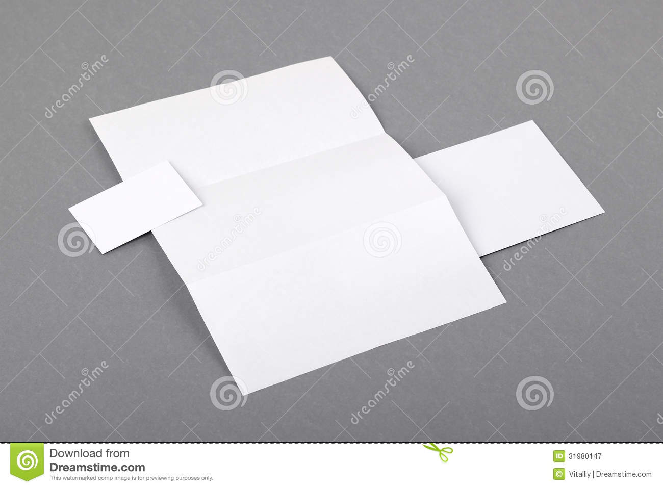 Letterhead Folded Business Card Envelo