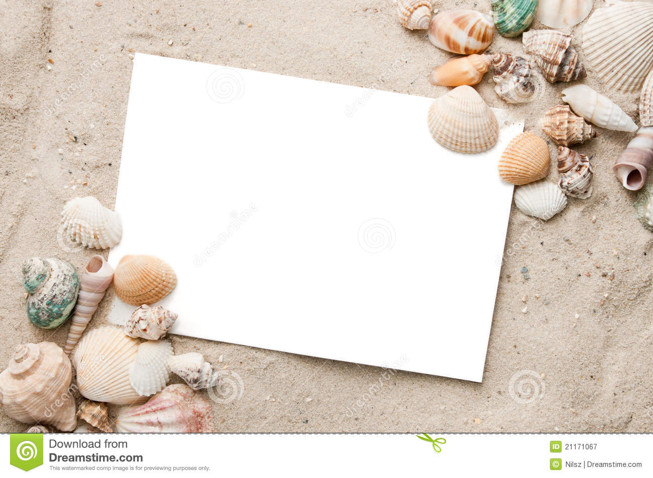 Blank Beach Vacation Postcard Stock Image - Image of vacation, tropic: 21171067