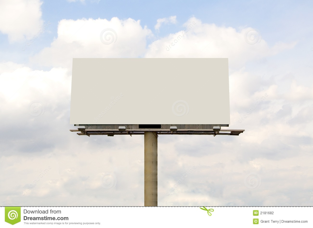 Blank Billboard stock photo. Image of advertising ...