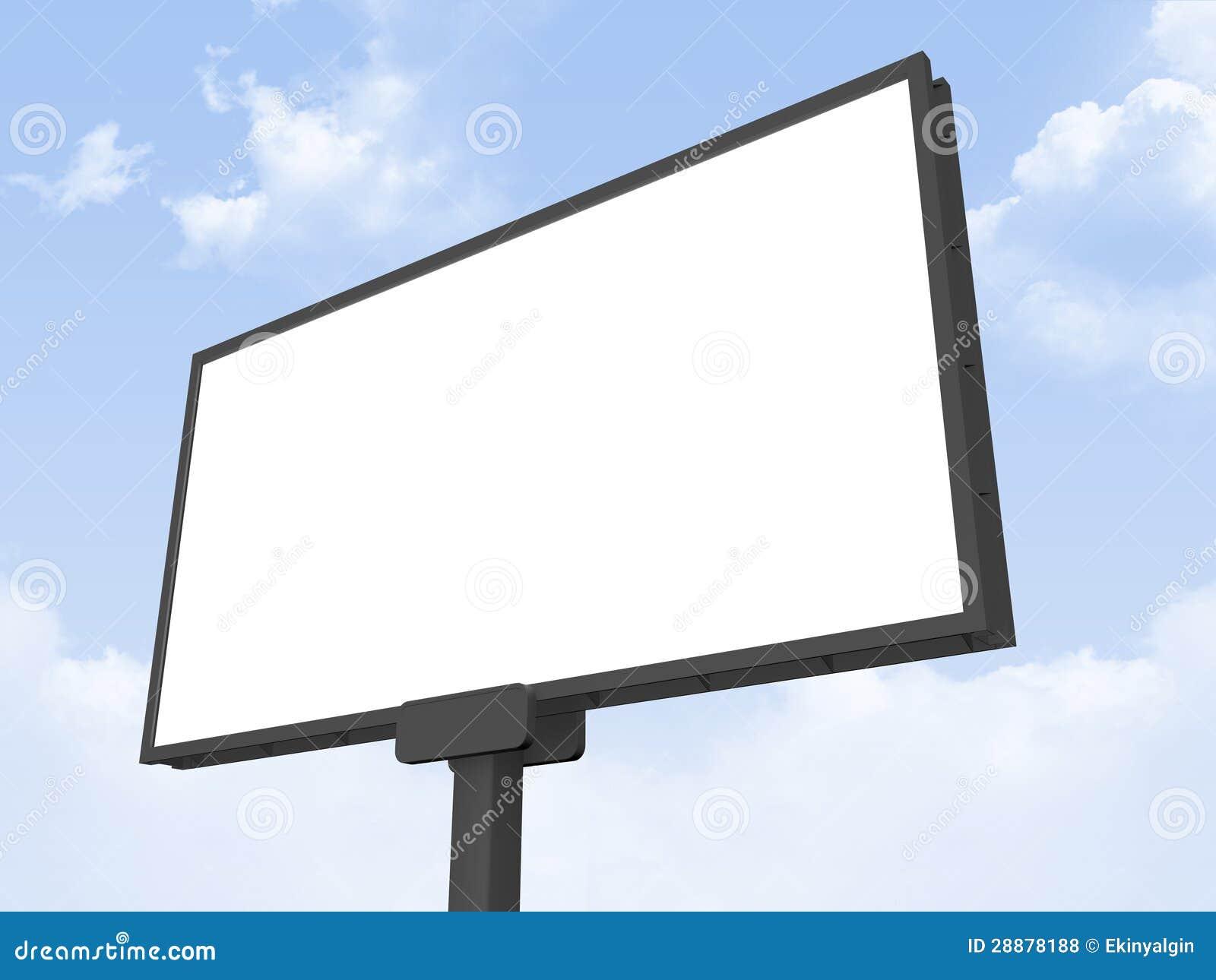 Blank Billboard Royalty Free Stock Photos Image 28878188