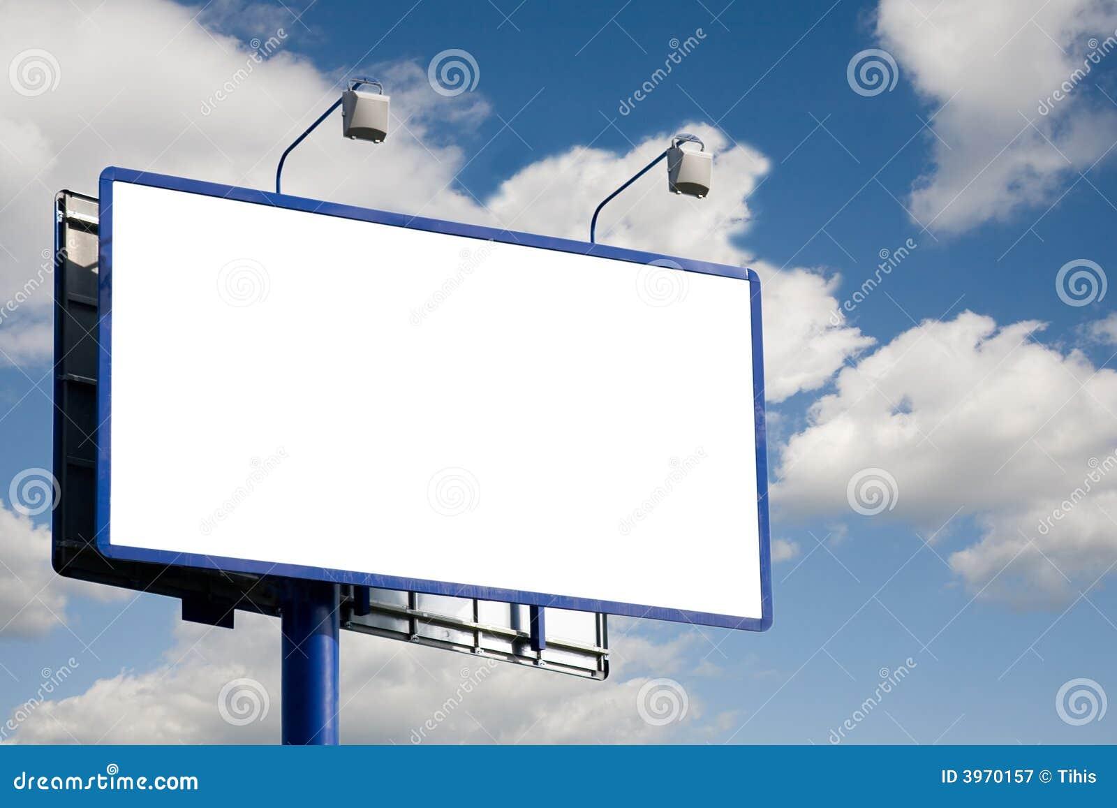 Blank Billboard Royalty Free Stock Photography Image
