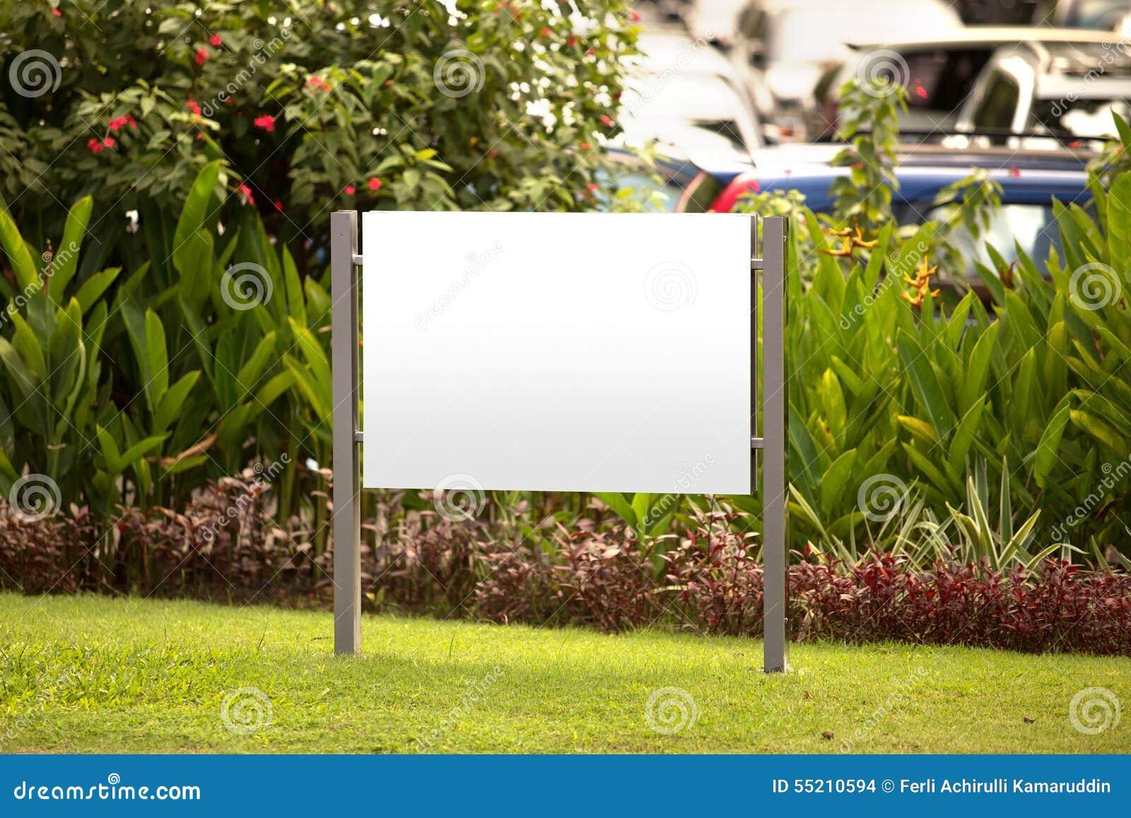 Blank billboard, for advertisement