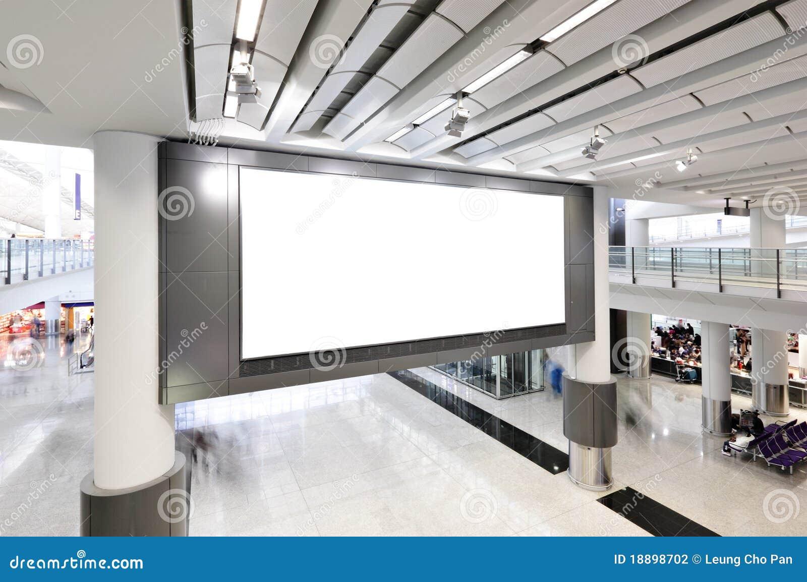 Blank Billboard Indoor Stock Photography Image 18898702