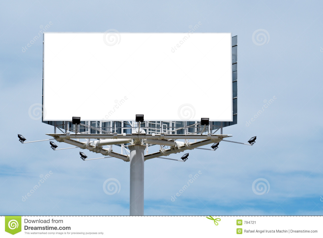 Blank Billboard, Just Add Your Text Stock Image - Image: 794721
