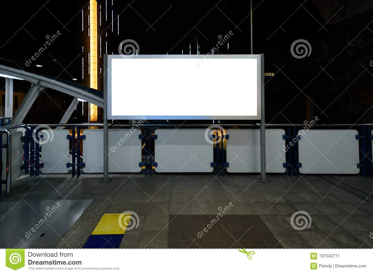 Blank billboard or poster for advertising.