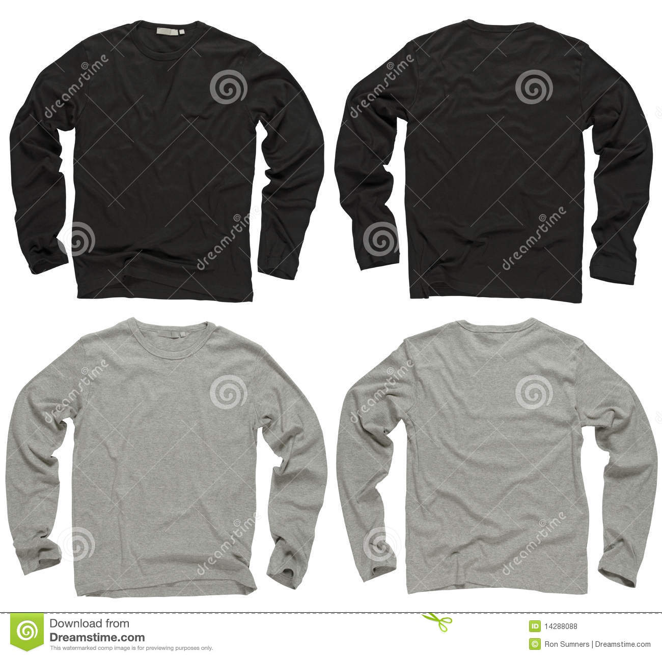 Blank Black And Gray Long Sleeve Shirts Royalty Free Stock Photos ...