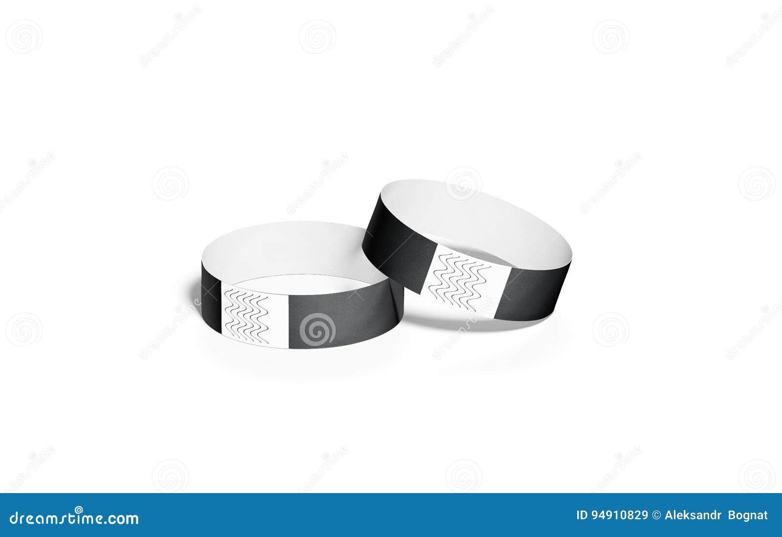 blank black paper wristbands mock ups 3d rendering stock illustration image 94910829. Black Bedroom Furniture Sets. Home Design Ideas