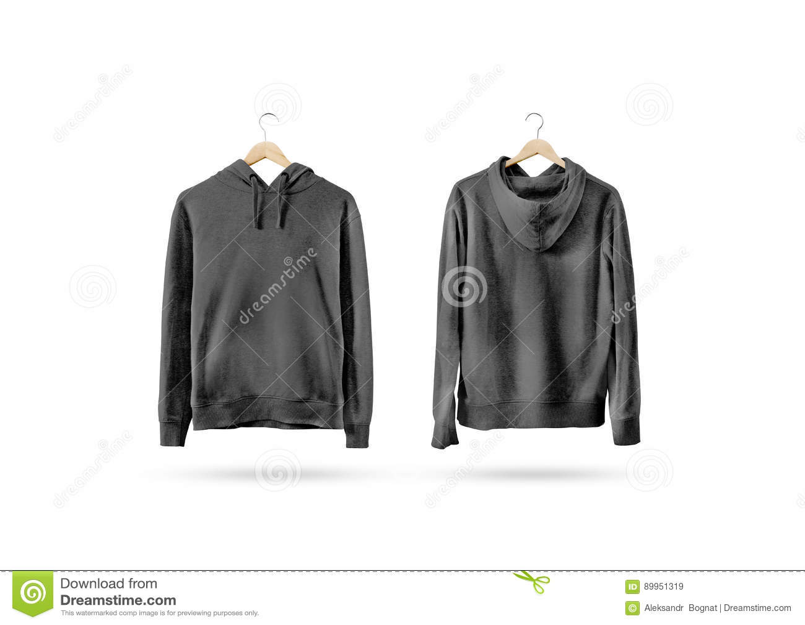 Black t shirt blank template - Black T Shirt Mockup Front And Back T Shirt Template Set Front Back View Blank