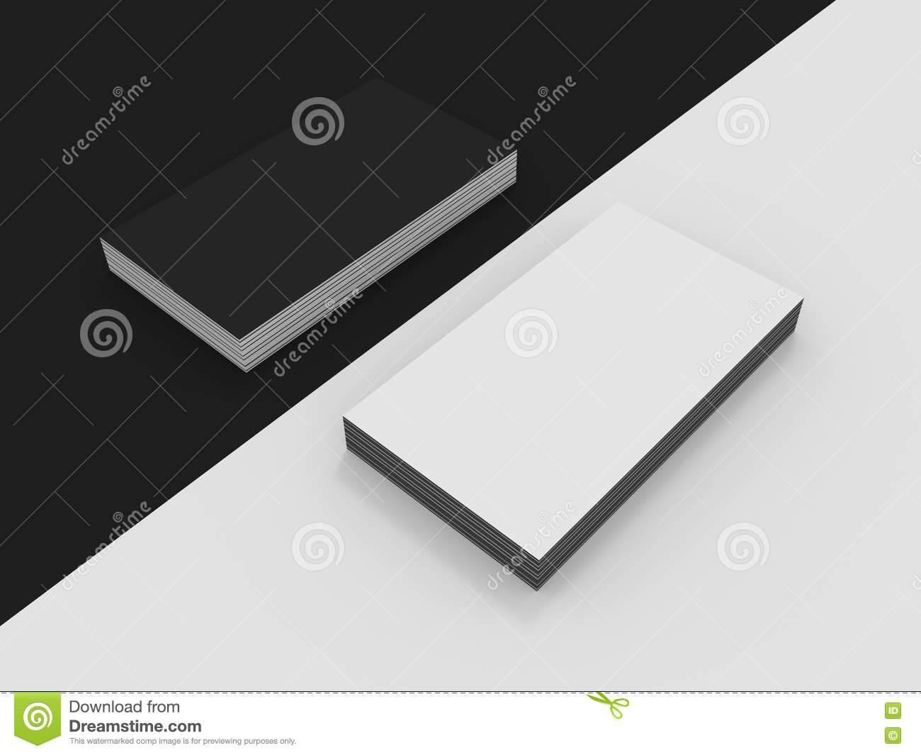 Download Blank Black And White Business Cards Mockup Stock Photo