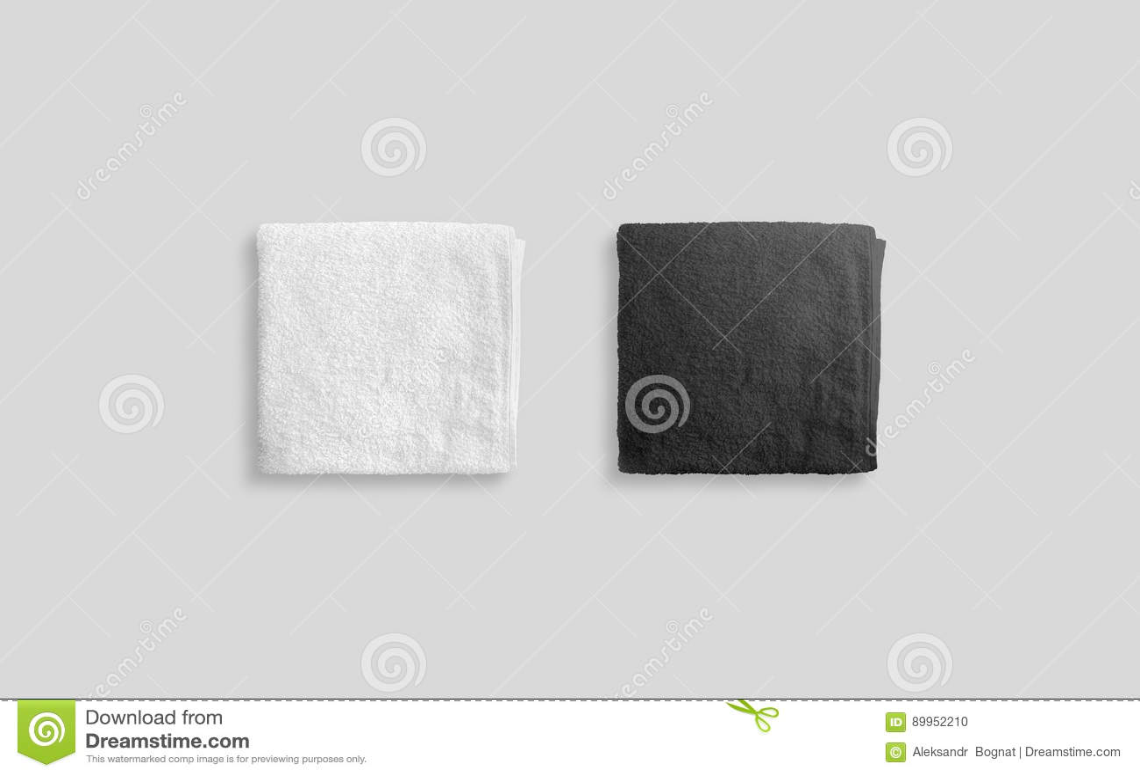 blank white beach towel. Blank Black And White Folded Soft Beach Towel Mockup