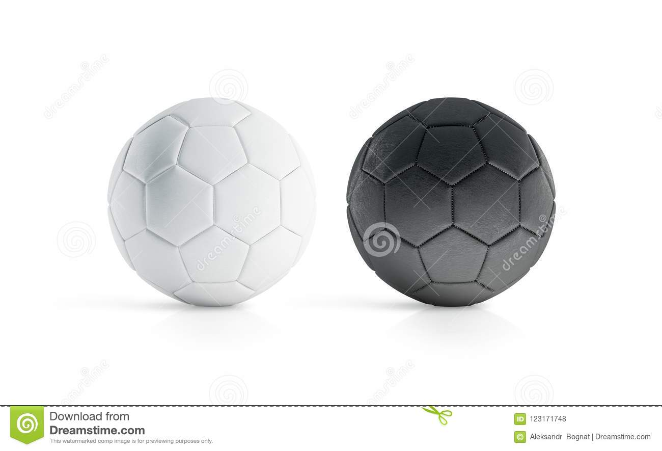 BLank Black And White Soccer Ball Mock Up Isolated