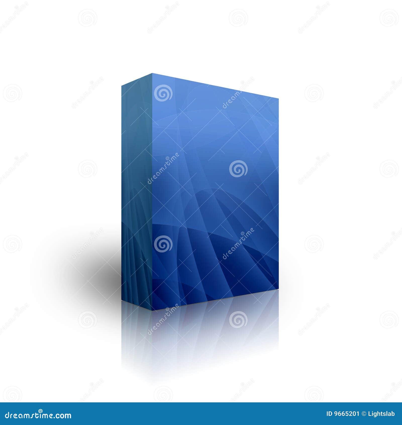 Blank Blue Box Template