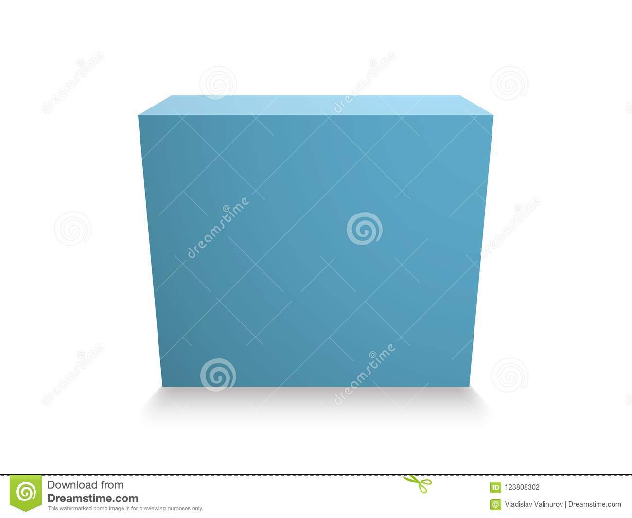 Blank blue cube on white background 3d box template stock vector download blank blue cube on white background 3d box template stock vector illustration of maxwellsz