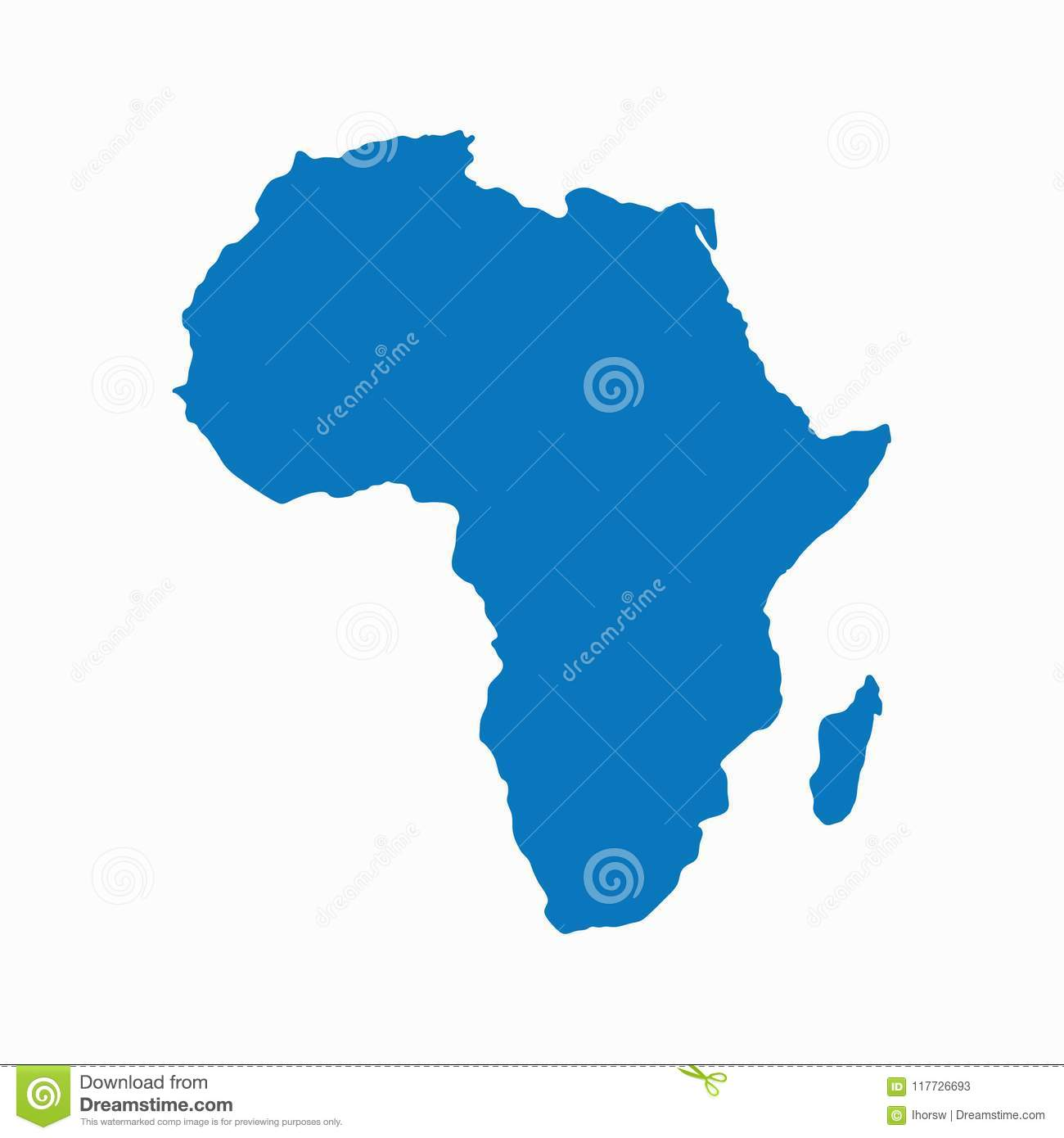 Africa Map Background.Blank Blue Similar Continent Africa Map Isolated On White Background