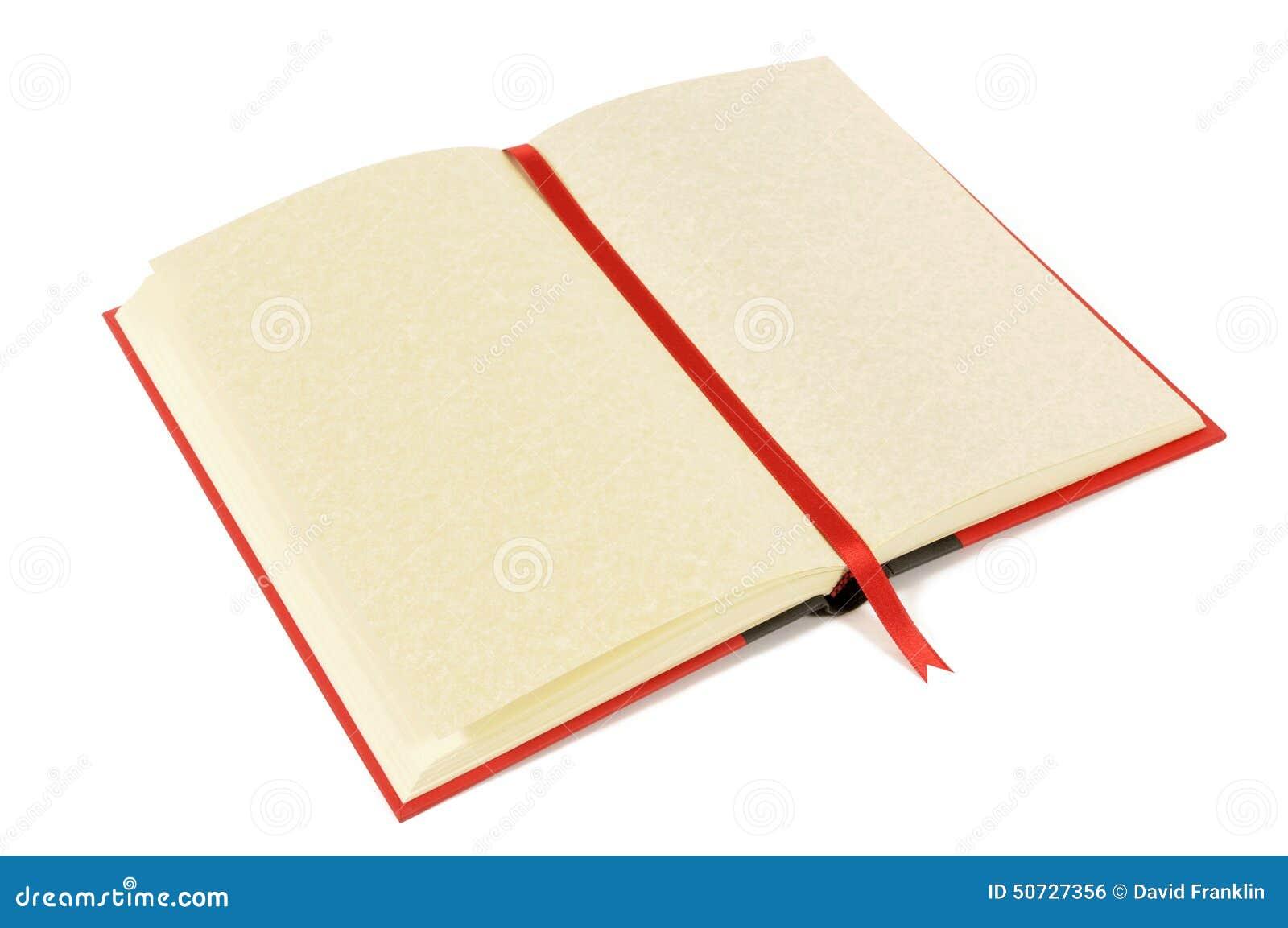 Blank bokbokmärke