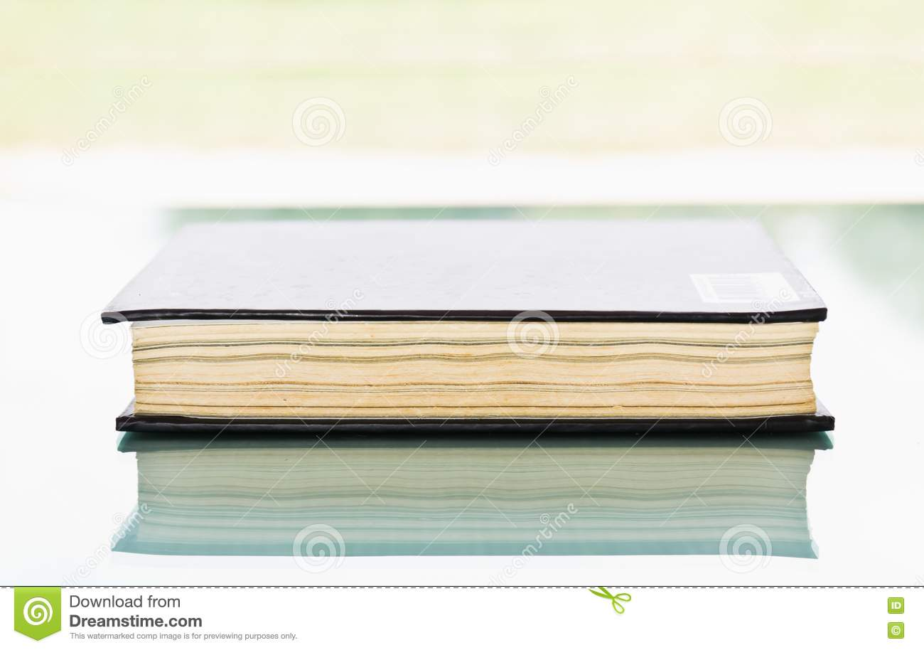 Blank Black Book Cover : Blank book with black cover stock photo image