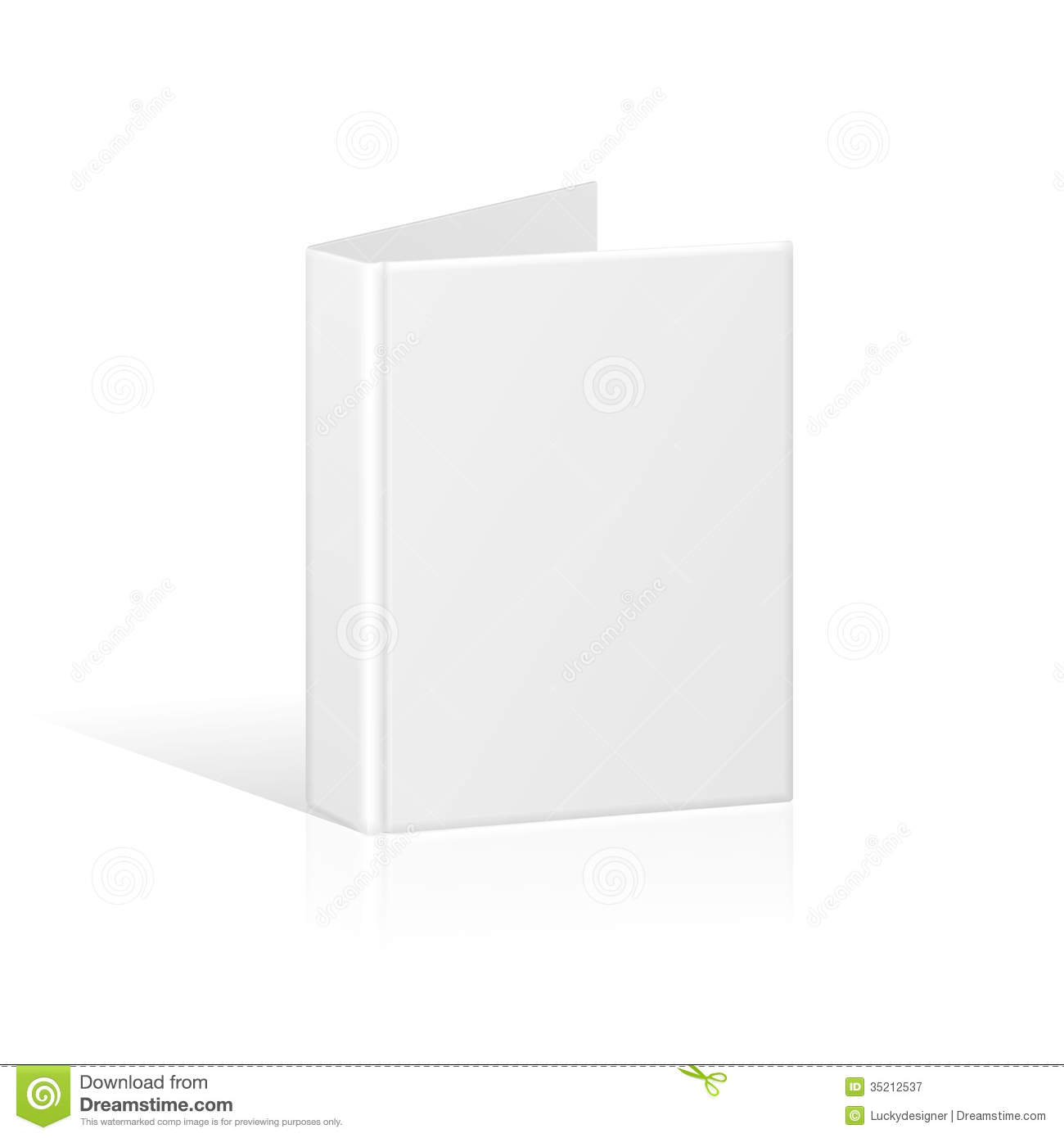 Blank Book Cover Vector Template : Blank book cover binder or folder template royalty free
