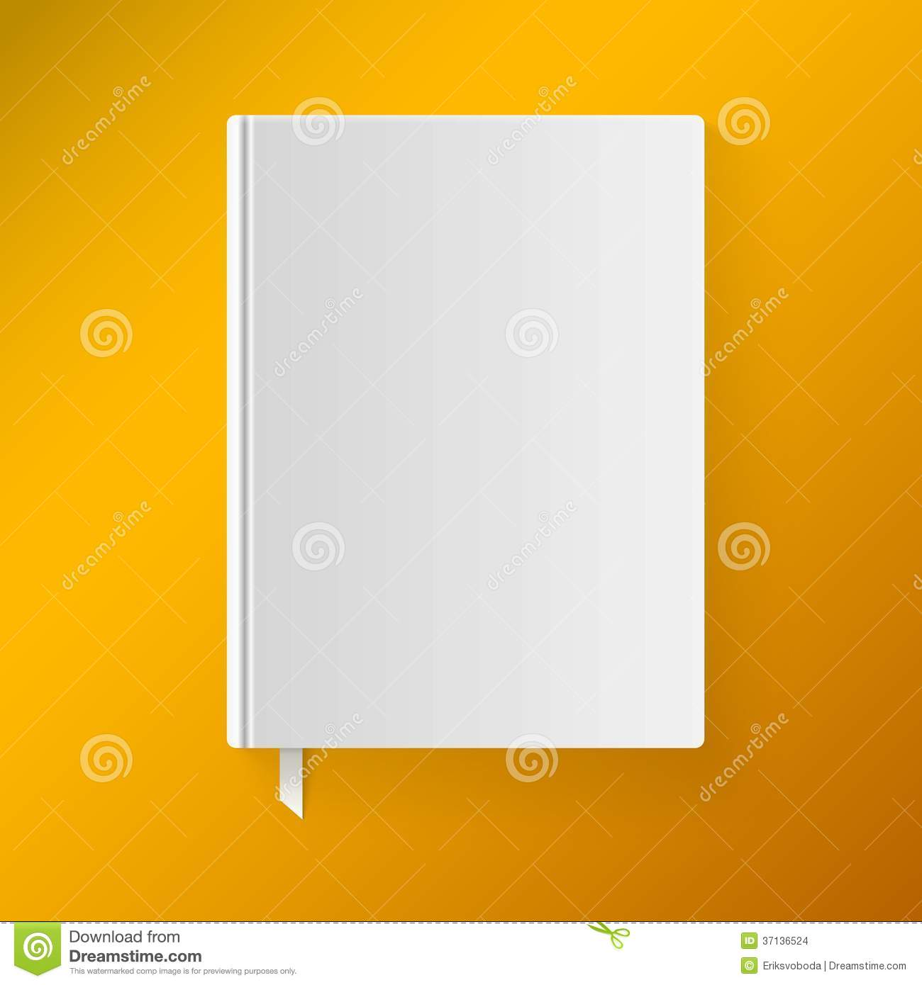 Blank Book Cover Vector Illustration Free : Blank book cover with a bookmark object for stock vector
