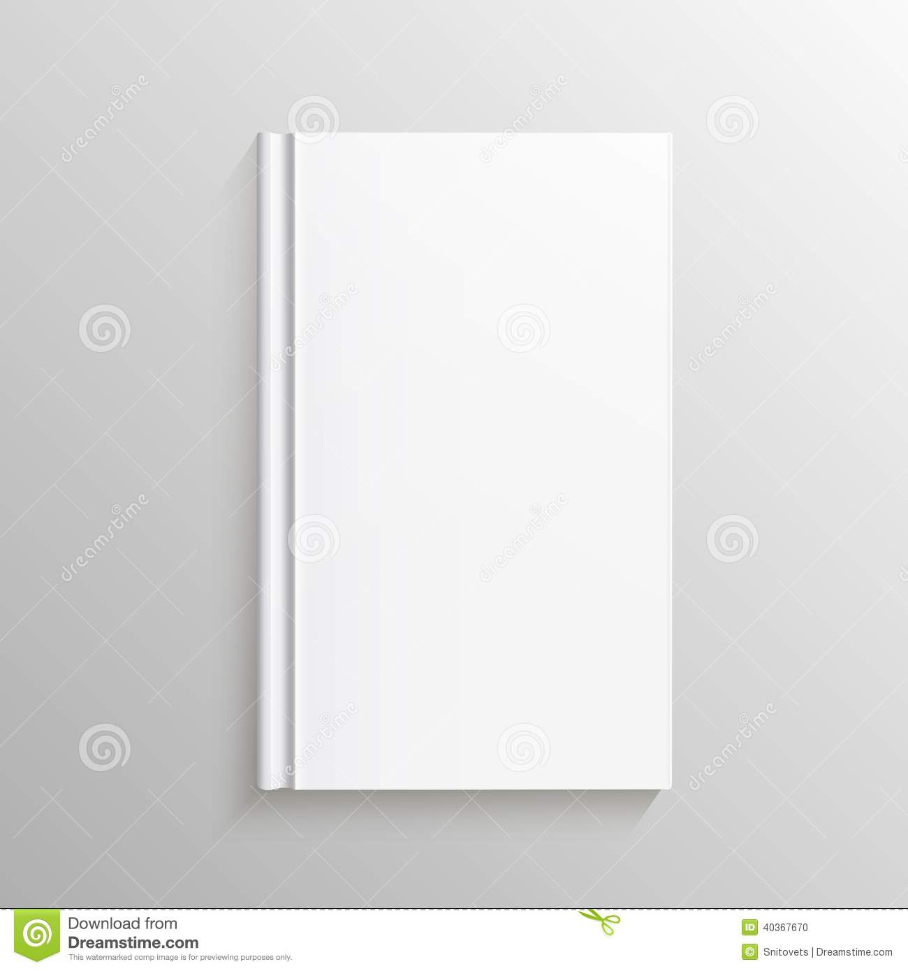 Book Cover Design Blank : Blank book cover gradient mesh isolated object for